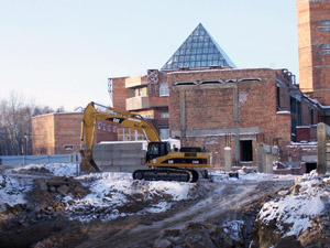 Строительство нового корпуса. Февраль 2008 года